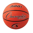 Champion Sports RBB1 Pro Rubber Basketball, Orange