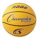 Champion Sports RBB2YL Pro Rubber Basketball, Yellow