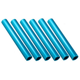 Champion Sports RBBL Aluminum Relay Batons - Blue, Price/Pack of 6