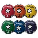 Champion Sports SRB4SET Rubber Cover Size 4 Soccer Ball Set