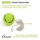 Champion Sports TTGAME Tether Tennis Game Set