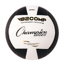 Champion Sports VB2BK VB Pro Comp Series Volleyball, Black & White