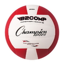 Champion Sports VB2RD VB Pro Comp Series Volleyball, Red & White
