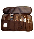 C.H. Ellis 03-7251 7-Pocket Black Tool Roll Up with Flap 15x8