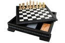 CHH 2149L 7 In 1 Black Leatherette Game Set