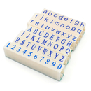 Aspire 62PCS Clickable Upper Lower Case Alphabet + Number Stamp Set
