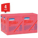 KIMBERLY-CLARK 41029-70 KC WYPALL X80 1/4 Fold Wiper - Red