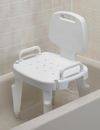 Shower Seat, Adjustable With Arms and Back