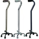 Quad Cane  Small Base Chrome w/Foam Grip