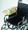 Wheelchair Tray, Half-Lap Wood Flip-Away, for Full Arm