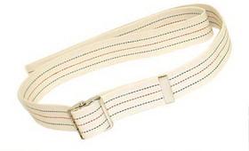 "Gait Belt w/Metal Buckle 2x36"" Striped"
