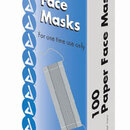 Paper Face Masks Bx/100