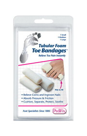 Complete Medical Supplies Tubular-Foam Toe Bandage, Pk/3 Large