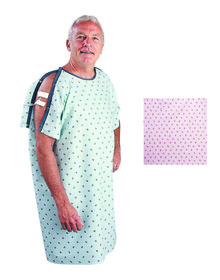 Patient I.V. Gown Pink Rosebud Print