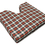 "Coccyx Wheelchair Cushion Foam, Plaid, 16"" x 18"" x 3"""