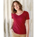Hanes S04V Ladies Nano-T V-Neck T-Shirt