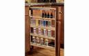 Rev-A-Shelf 432-BFSC-6C Filler Pullout Organizer with Blumotion Soft-Close Sink & Base Accessories, 6