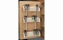 Rev-A-Shelf 4ASR-18 Adjustable Door Mount Spice Rack With 3 Bins For 18
