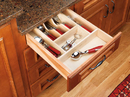Rev-A-Shelf 4WCT-1SH Cut-To-Size Insert Wood Cutlery Organizer for Drawers, 14-5/8