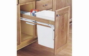 Rev-A-Shelf 4WCTM-1550DM-1 Single 50 Quart Wood Top Mount Waste Container