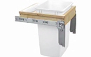 Rev-A-Shelf 4WCTM-1818DM-1-162 Single 35 Qt. Reduced Depth (Desk top mount) Waste Container