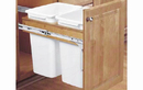 Rev-A-Shelf 4WCTM-24DM2 Double 35 Qt. Top Mount Waste Container, 21