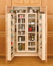 "Rev-A-Shelf 4WP18-57-KIT Swing Out Complete System Tall/Pantry Accessories, 25-3/4""W x 7-1/2""D x 57""H - Natural"