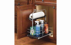 Rev-A-Shelf 544-10C-1 Removable Under Sink Caddy With Chrome Basket