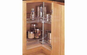 "Rev-A-Shelf 5472-28 CR 28"" Kidney Shape Chrome Lazy Susan"