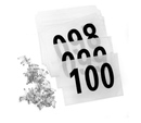 GOGO Competitor Numbers Race Bib Number, 100 pcs
