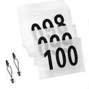 GOGO 100 Pcs Competitor Numbers Race Bib Numbers With  200 Pcs Reflective Bib Number Holders