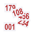 GOGO (Set of 100PCS) Tyvek Race Bib Number for Kids, 4 3/4 x 3 1/8 Inch Sequence Competitor Numbers