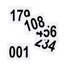 GOGO (Set of 100PCS) Tyvek Race Bib Number, 8 1/4 x 6 Inch Sequence Competitor Numbers