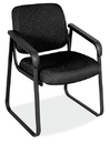 Office Source 2708 Blk Frame/ Fab Side Chair W/Arms