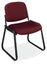 Office Source 2709 Blk Frame/ Fab Armless Side Chair