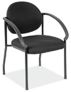 Office Source 2804GBLK Side Chair w/Arms and Black Frame