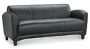 Office Source 9883 Leather Manhattan 3-Seat Sofa