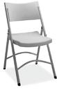 Office Source FBM03 Lt Gray Plastic Chair Folding