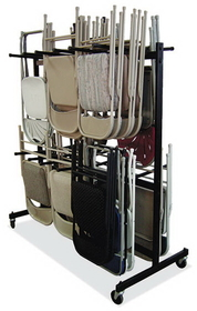 Office Source FCDRA51 Folding Chair Cart