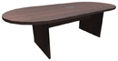 Office Source PL136 Racetrack Conference Table w/Slab Base
