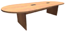 Office Source PL137 Racetrack Conference Table w/Slab Base, 120
