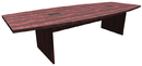 Office Source PL237 Boat Shaped Conference Table w/Slab Base,