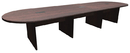 Office Source PLC14 Racetrack Conference Table w/Slab Base, 168