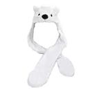 TopTie Ladies Kids Teens Babies Long Animal Hat, Bear, Polar Bear, Faux Fur