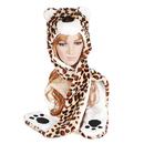 TopTie Animal Hat, Faux Fur - Leopard, White Leopard, Brown Leopard