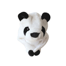 TopTie Animal Hat, Faux Fur, Short with Ear Poms - Panda Hat, Panda Cap