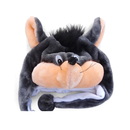 TopTie Full Hood Animal Hat Faux Fur With Fleece Lined Interior - Mouse