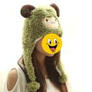 TopTie Better Quality Hood Hat, Best Hats - Sheep Giraffe Duck With Pom Poms