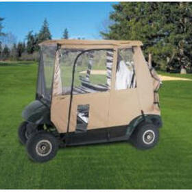 Classic Accessories 72042 Deluxe 3-Sided Golf Car Enclosure, Sand, Fits Most Models Except '83 - '07 Club Cars