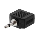 Cmple 1146-N 3.5mm Mono Plug to 2x3.5mm Stereo Jack Adapter